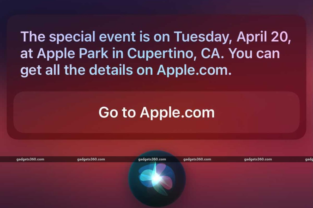 Apple's Next Event May Be Scheduled for April 20, Siri ...
